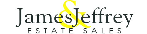 James & Jeffrey Antiques Estate Sale logo